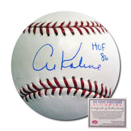 "Al Kaline Detroit Tigers Autographed Rawlings MLB Baseball with ""HOF 86"" Inscription"