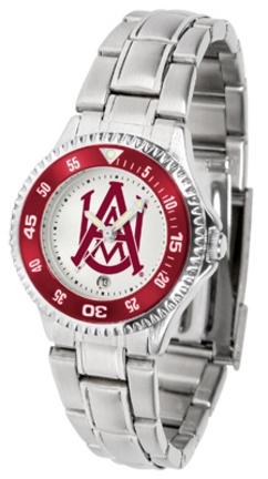 Alabama A & M Bulldogs Competitor Ladies Watch with Steel Band