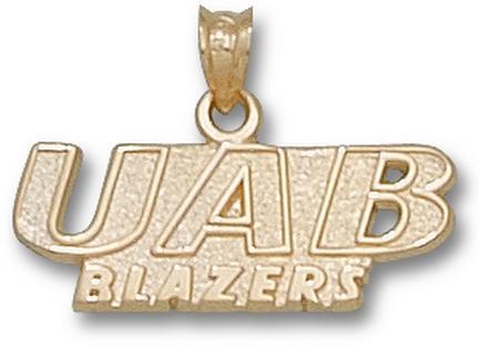 """Alabama (Birmingham) Blazers """"UAB Blazers"""" Pendant - 10KT Gold Jewelry"""