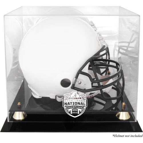 Alabama Crimson Tide 2012 BCS National Champions Golden Classic Football Helmet Display Case with Mirror Back