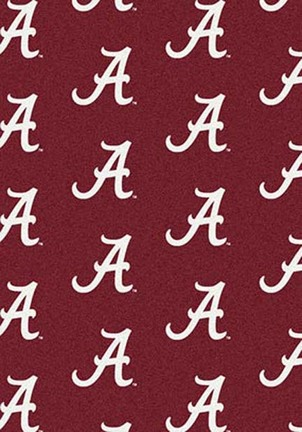"Alabama Crimson Tide 3' 10"" x 5' 4"" Team Repeat Area Rug (""A"" Logo)"