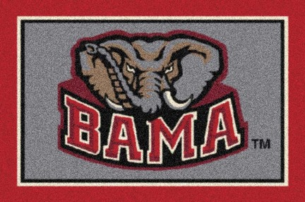"Alabama Crimson Tide ""BAMA"" 3'10""x 5'4"" Team Spirit Area Rug"