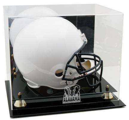 Alabama Crimson Tide Logo Golden Classic Full Size Helmet Display Case