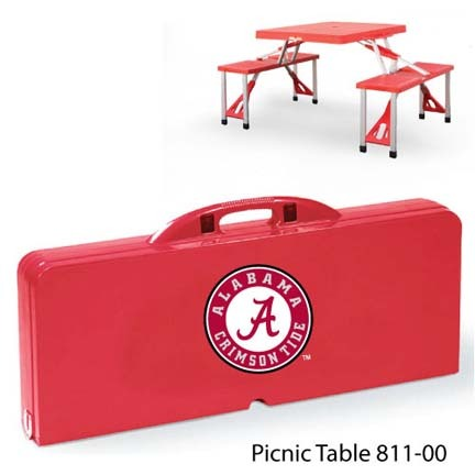 Alabama Crimson Tide Portable Folding Table and Seats