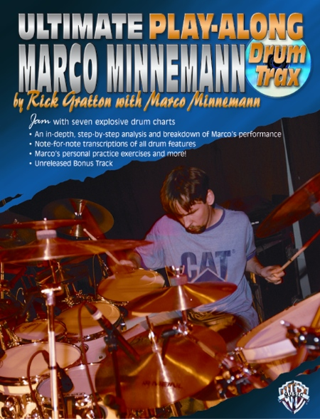 Alfred 00-0725B Ultimate Play-Along Drum Trax- Marco Minnemann - Music Book