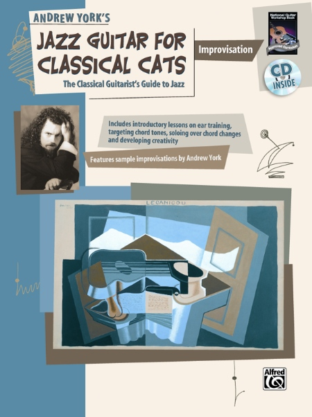 Alfred 00-19435 Jazz Guitar for Classical Cats- Improvisation - Music Book