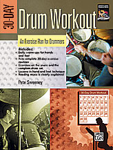 Alfred 00-24210 30-Day Drum Workout- An Exercise Plan for Drummers - Music Book