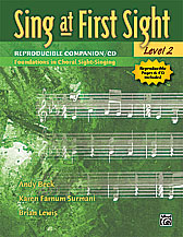 Alfred 00-31264 Sing at First Sight- Level 2 - Music Book
