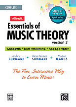 Alfred 00-34627 Essentials of Music Theory- Software- Version 3 CD-ROM Student Version- Complete Volume - Music Book