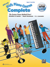 Alfred 00-45196 Kids Piano Course Complete - Book & Online Audio