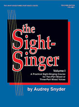 Alfred 00-SVB00102 The Sight-Singer- Volume I for Two-Part Mixed-Three-Part Mixed Voices - Music Book