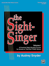 Alfred 00-SVB00103 The Sight-Singer- Volume I for Unison-Two-Part Treble Voices - Music Book