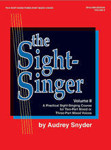 Alfred 00-SVB00111 The Sight-Singer- Volume II for Two-Part Mixed-Three-Part Mixed Voices - Music Book