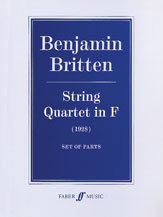 Alfred 12-0571519024 String Quartet in F - Music Book