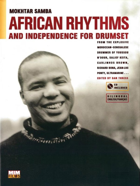 Alfred 83-MIM002 African Rhythms and Independence for Drumset - Music Book
