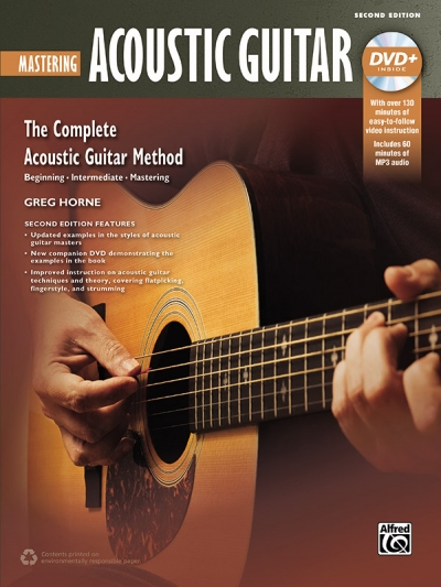 Alfred Music 00-43641 Mastering Acoustic Guitar 2nd Edition DVD & Book