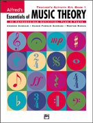 Alfred Publishing 00-19380 Essentials of Music Theory: Teacher's Activity Kit Book 1 - Music Book
