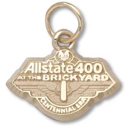 "Allstate 400 at The Brickyard 3/8"" 2009 Logo Charm - 10KT Gold Jewelry"