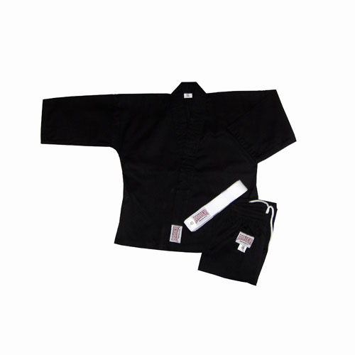 Amber Sporting Goods KAR-8-B-000 8oz Karate Uniform Black Size 000
