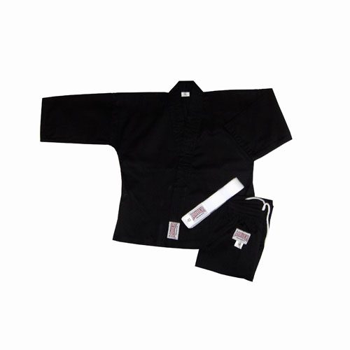 Amber Sporting Goods KAR-8-B-9 8oz Karate Uniform Black Size 9