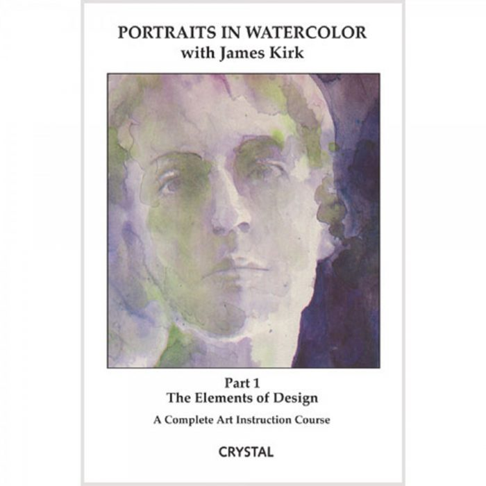 American Educational CP0166 Portraits in Watercolor 1 Elements of Design Book