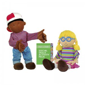 American Educational Products AEPECB148 Social Skill Puppets Max & Millie
