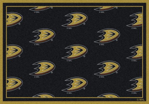 "Anaheim Ducks 2' 1"" x 7' 8"" Team Repeat Area Rug Runner"