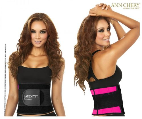 Ann Chery 7707142237952 2051 Womens Latex Fit Waist Shaper Belt Pink - Medium-34