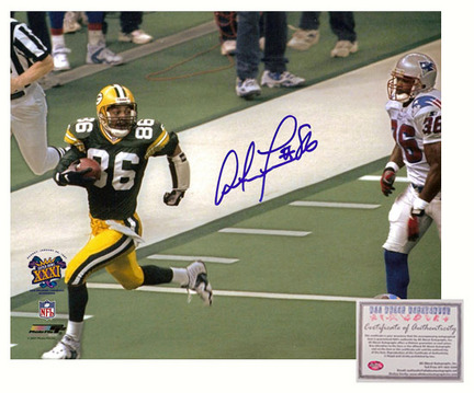 "Antonio Freeman Autographed ""Super Bowl XXXI Receiving"" 8"" x 10"" Photograph (Unframed)"