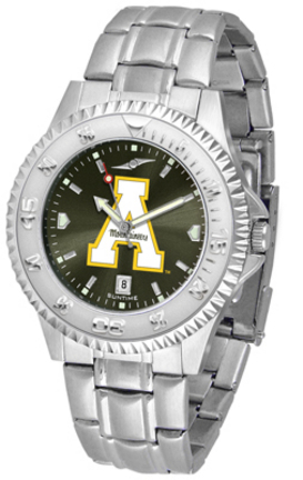 Appalachian State Mountaineers Competitor AnoChrome Men's Watch with Steel Band