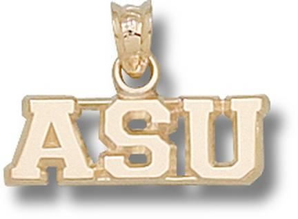 "Appalachian State Mountaineers Horizontal ""ASU"" Pendant - 10KT Gold Jewelry"