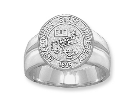 "Appalachian State Mountaineers ""Seal"" Pendant - Sterling Silver Jewelry"