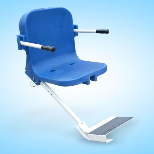 Aqua Creek Products F-0904FRA Standard Angled Plastic Footrest Blue