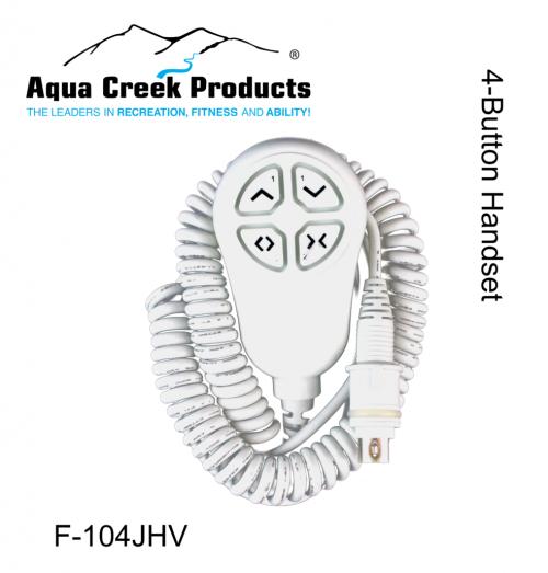 Aqua Creek Products F-104JHV 4-Button Pro Spas Scout Rev & Titan Handset 2pc Vito Controls