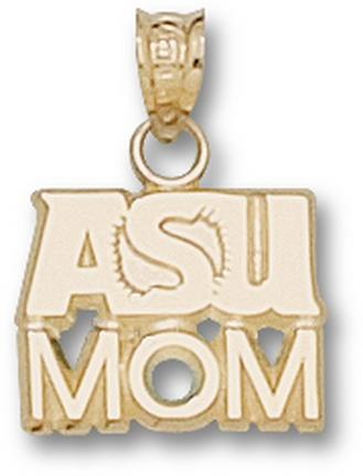 "Arizona State Sun Devils ""ASU Sunburst"" ""Mom"" Pendant - 10KT Gold Jewelry"