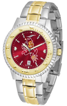 Arizona State Sun Devils Competitor AnoChrome Two Tone Watch