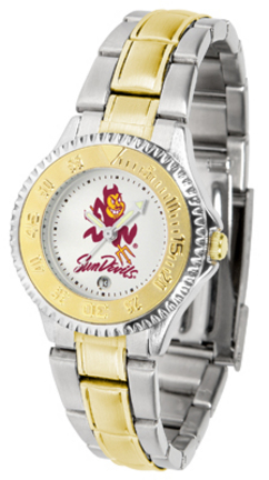 Arizona State Sun Devils Competitor Ladies Watch with Two-Tone Band