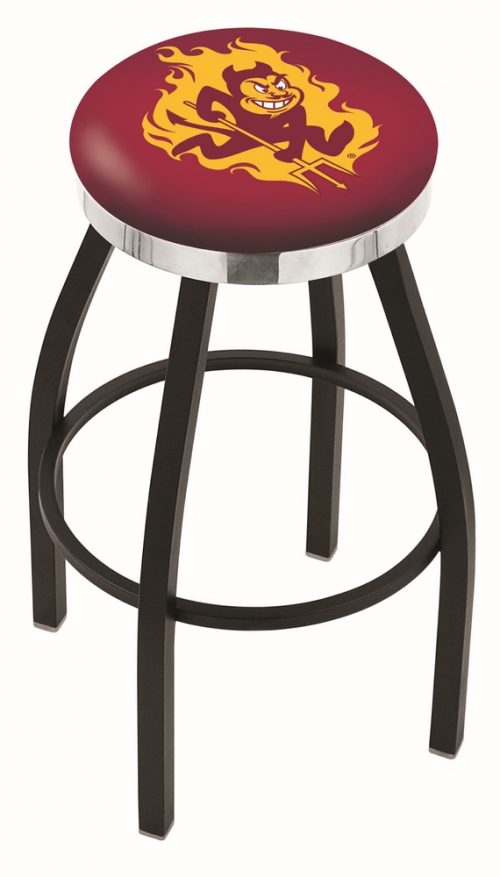 "Arizona State Sun Devils (L8B2C) 30"" Tall Logo Bar Stool by Holland Bar Stool Company (with Single Ring Swivel Black Solid Welded Base)"