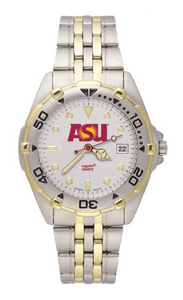 Arizona State Sun Devils NCAA Men's All Star Watch with Stainless Steel Bracelet