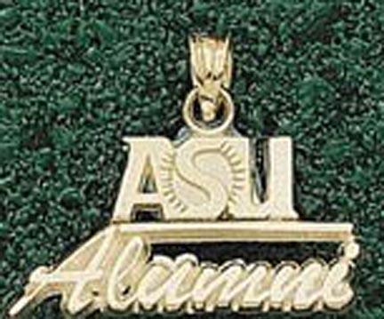 "Arizona State Sun Devils Small ""ASU Alumni"" Pendant - 10KT Gold Jewelry"