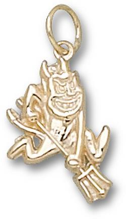 "Arizona State Sun Devils ""Sparky"" Charm - 10KT Gold Jewelry"