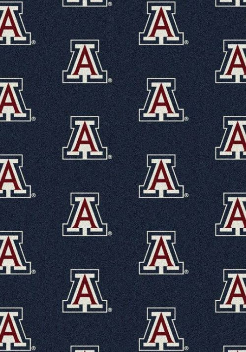 "Arizona Wildcats 3' 10"" x 5' 4"" Team Repeat Area Rug"