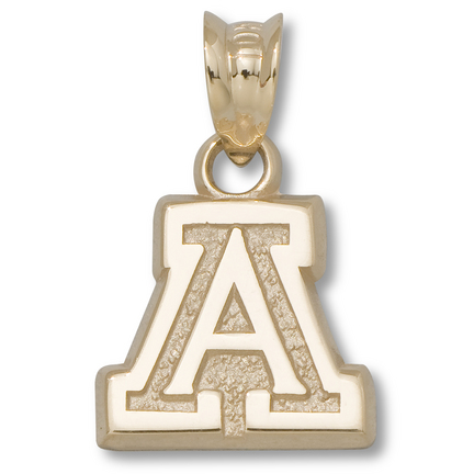 "Arizona Wildcats 3/8"" ""A"" Pendant - 14KT Gold Jewelry"