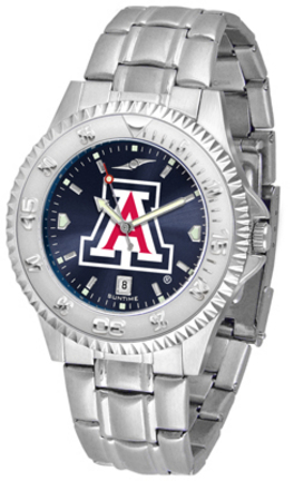 Arizona Wildcats Competitor AnoChrome Men's Watch with Steel Band
