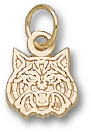 "Arizona Wildcats ""Wildcat Face"" 5/16"" Charm - 14KT Gold Jewelry"