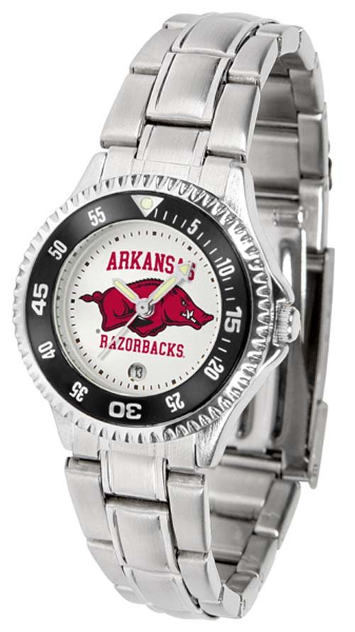 Arkansas Razorbacks Competitor Ladies Watch with Steel Band