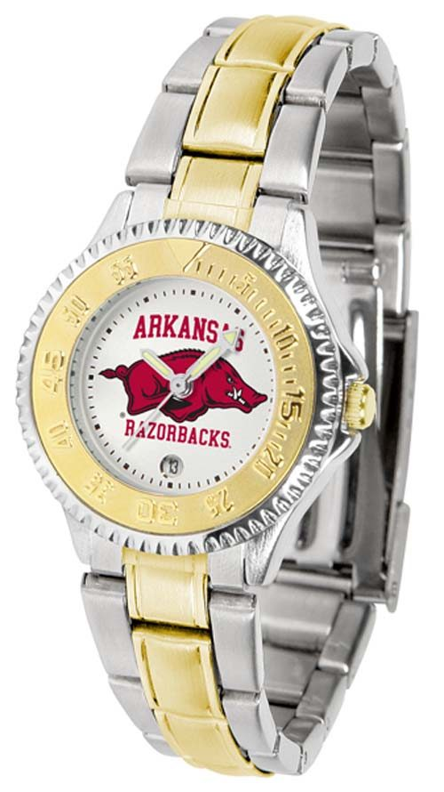 Arkansas Razorbacks Competitor Ladies Watch with Two-Tone Band