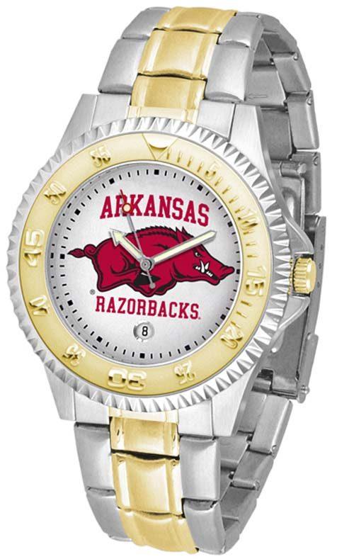 Arkansas Razorbacks Competitor Two Tone Watch