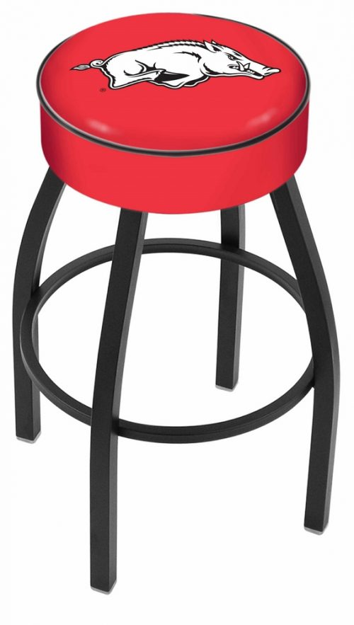 "Arkansas Razorbacks (L8B1) 25"" Tall Logo Bar Stool by Holland Bar Stool Company (with Single Ring Swivel Black Solid Welded Base)"