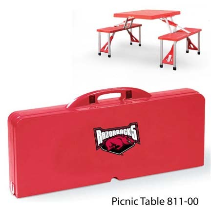 Arkansas Razorbacks Portable Folding Table and Seats